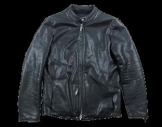 クロムハーツ STRGHT CASH LINING ストレート 100%カシミヤライニング シングル レザー ライダース ジャケット ブラック系 M  画像