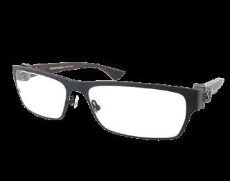クロムハーツ THROAT COAT サイドダガー ダイヤ入り 眼鏡 ウッド×ブラック 画像