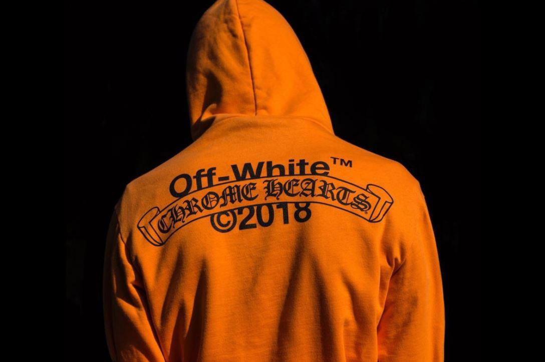 2018SSOFF-WHITE x Chrome Hearts / オフホワイト クロムハーツ Hoodie/フーディ パーカー買取画像