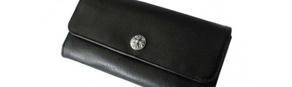 クロムハーツ ジュディ ブラック ヘビーレザー 財布 画像